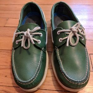Sperry Top-Sider J. Crew Green Boat Shoes